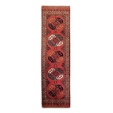 "2'10"" x 10'2""   Ersari Turkmen Design Runner Rug Top View"