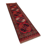 "2'10"" x 10'2""   Ersari Turkmen Design Runner Rug Angle View"
