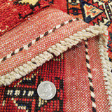 "2'10"" x 10'2""   Ersari Turkmen Design Runner Rug Back View"