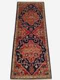 "1'11"" x 4'10""   Heriz Runner Rug Top View"
