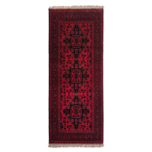 "2'7"" x 6'4""   Kunduz Runner Rug Top View"