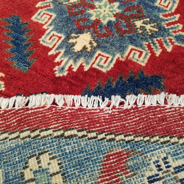 "9'7"" x 9'7""   Kazak Round Rug Back View"