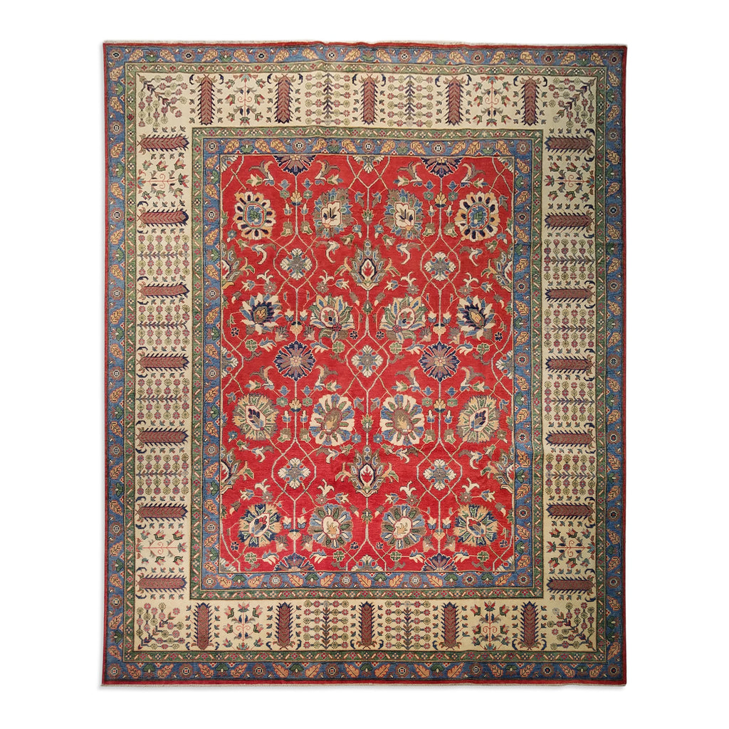 "9'1"" x 11'10""   Kazak Rug Top View"