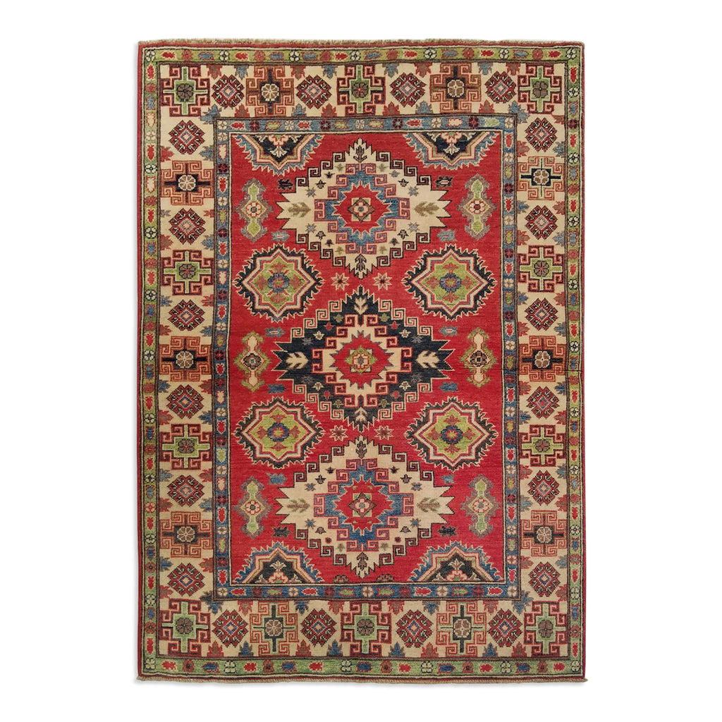 "4'0"" x 5'8""   Kazak Rug Top View"
