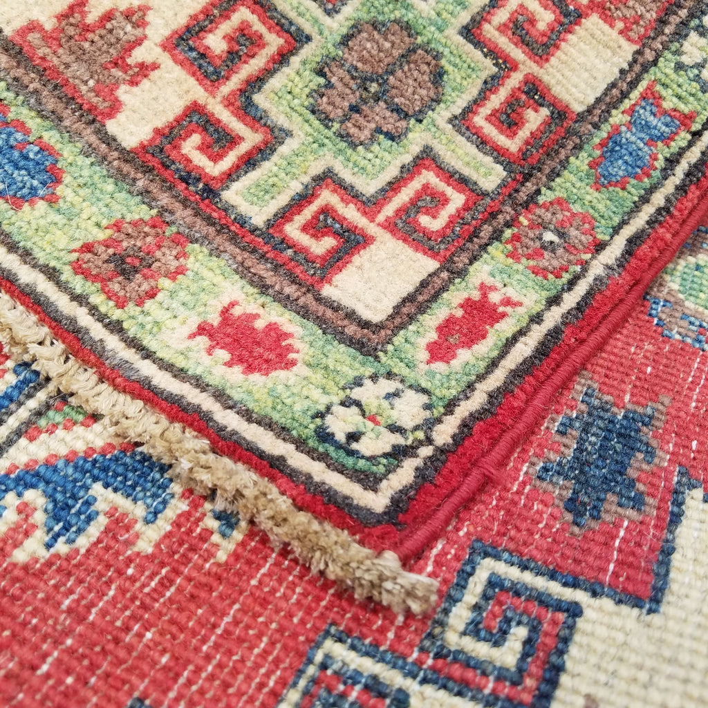 "4'0"" x 5'8""   Kazak Rug Back View"