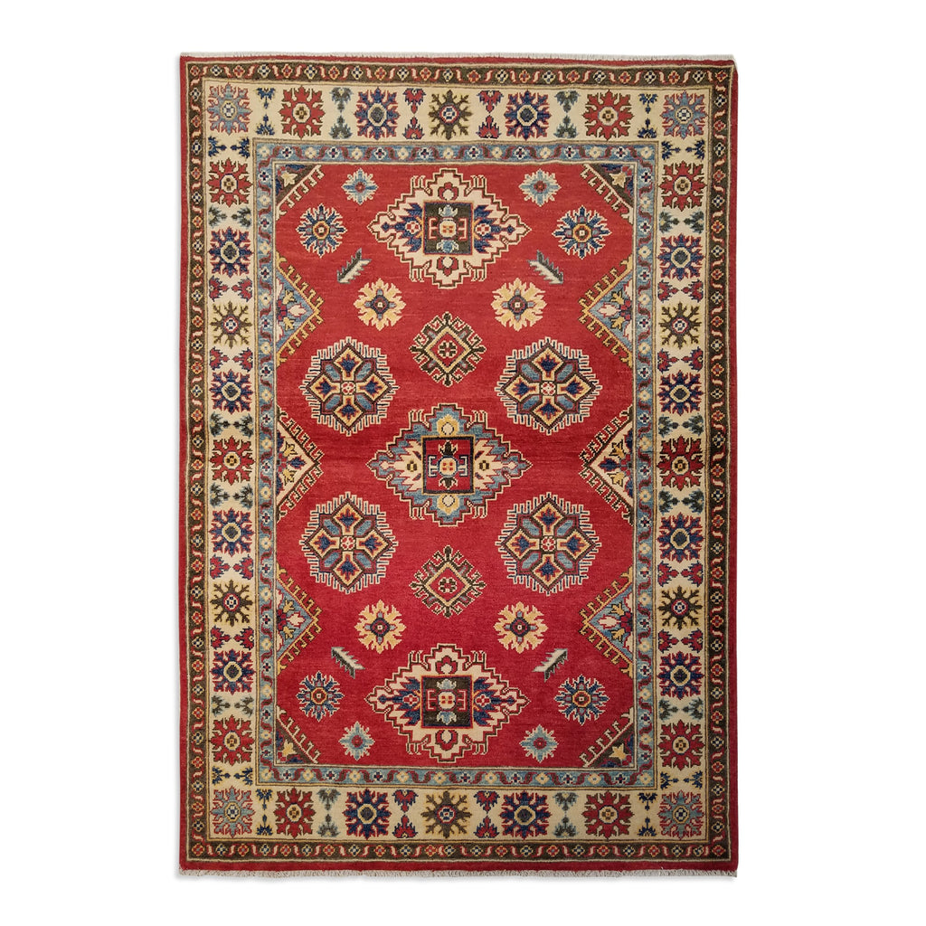 "4'0"" x 5'10""   Kazak Rug Top View"