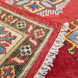 "4'0"" x 5'10""   Kazak Rug Back View"