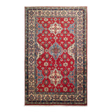 "3'9"" x 5'11""   Kazak Rug Top View"