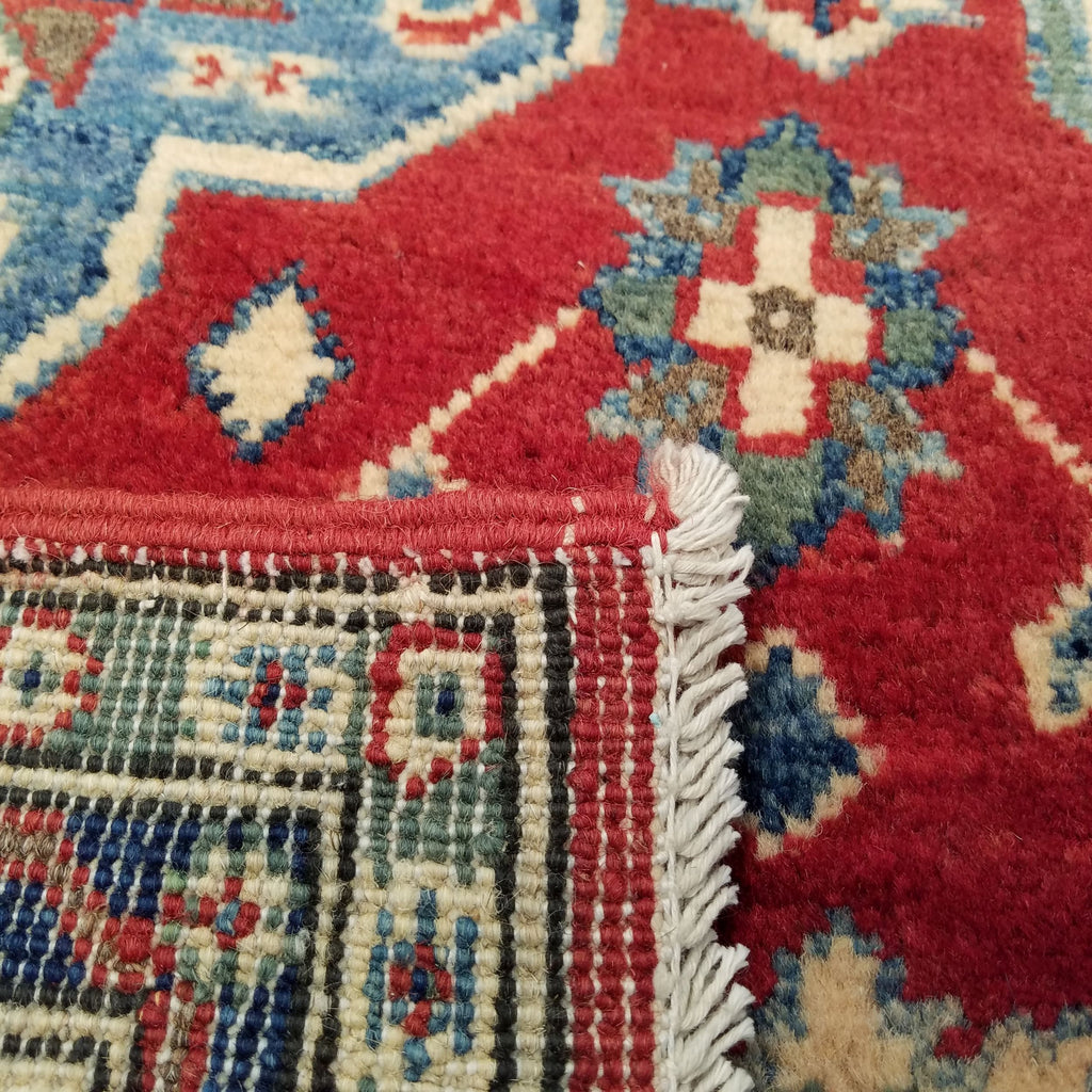 "3'9"" x 5'11""   Kazak Rug Back View"