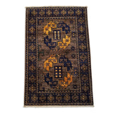 "2'1"" x 3'2""   Ersari Turkmen Design Rug Back View"