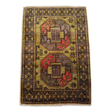 "2'0"" x 2'11""   Ersari Turkmen Design Rug Back View"