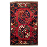 "2'0"" x 3'0""   Ersari Turkmen Design Rug Top View"