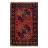 "1'11"" x 3'0""   Ersari Turkmen Design Rug Top View"