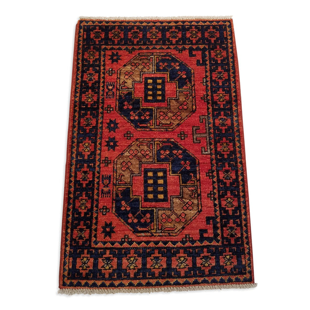 "1'11"" x 3'0""   Ersari Turkmen Design Rug Back View"