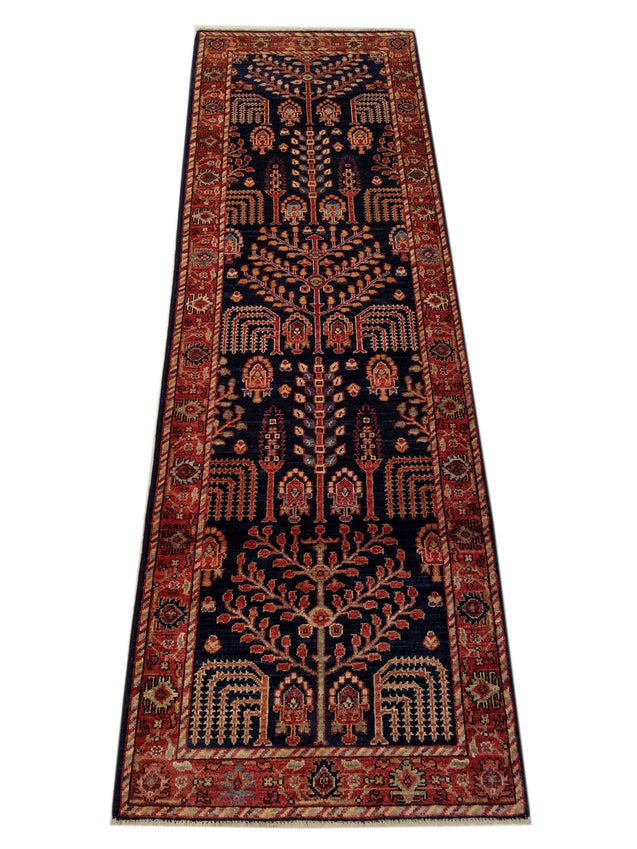 "2'7"" x 7'9""   Serapi Runner Rug Top View"