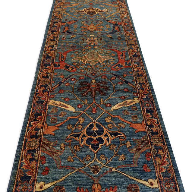 "2'7"" x 13'4""   Serapi Runner Rug Back View"