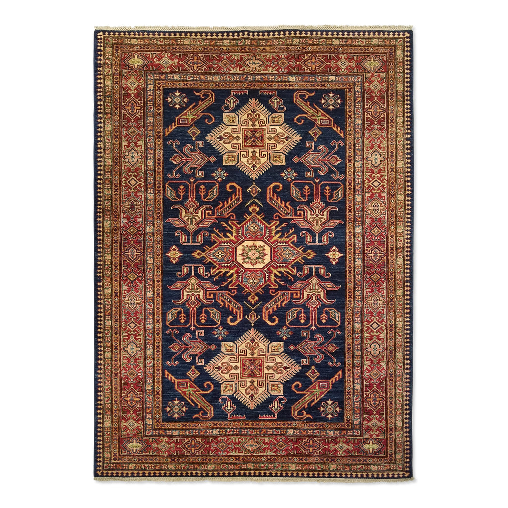 "5'0"" x 7'0""   Super Kazak Rug Top View"