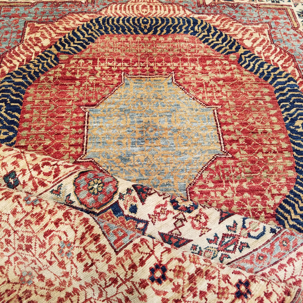 "8'2"" x 10'5""   Mamluk Rug Back View"