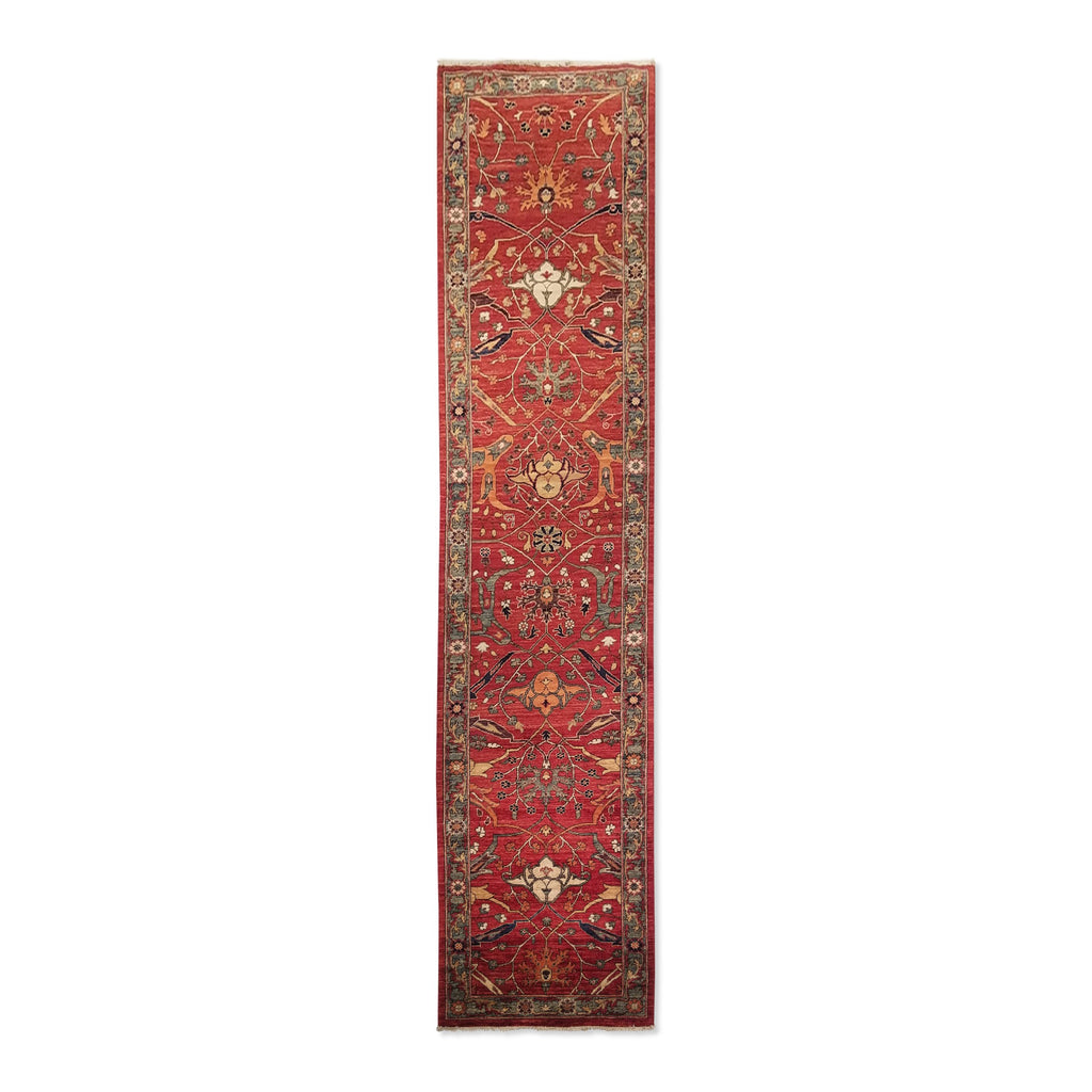 "2'6"" x 11'1""   Choeb Runner Rug Top View"