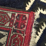 "3'6"" x 11'8""   Beshir Runner Rug Back View"