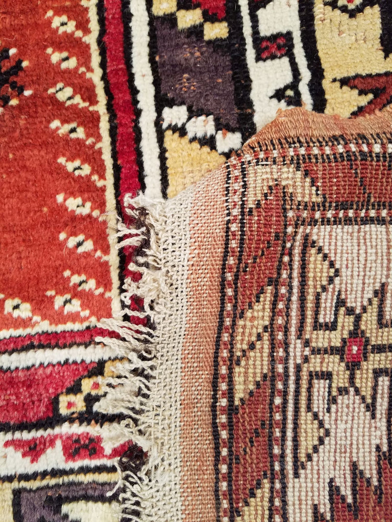"4'6"" x 7'3""   Turkish Milas Rug Back View"