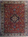 "7'1"" x 9'6""   Antique Persian Tabriz Rug Top View"