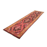 "3'9"" x 14'10""   Antique Caucasian Karabakh Runner Rug Angle View"