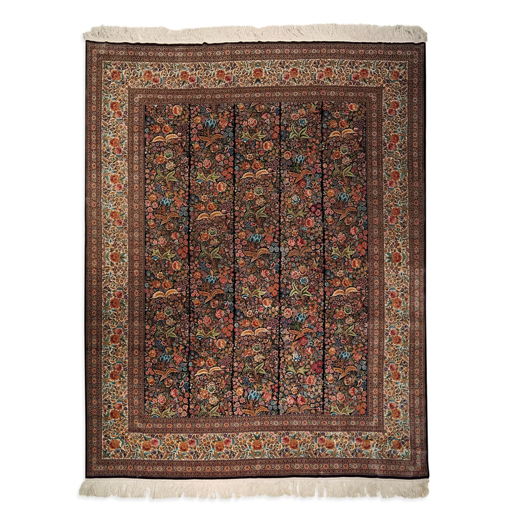"8'0"" x 10'0""   Silk Chinese Shalimar Gardens Rug Top View"