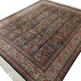 "8'0"" x 10'0""   Silk Chinese Shalimar Gardens Rug Angle View"