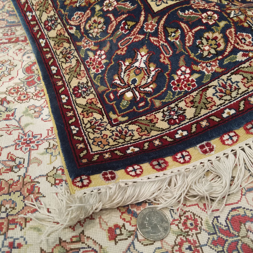 "3'0"" x 5'0""   Silk Chinese Hereke Rug Back View"