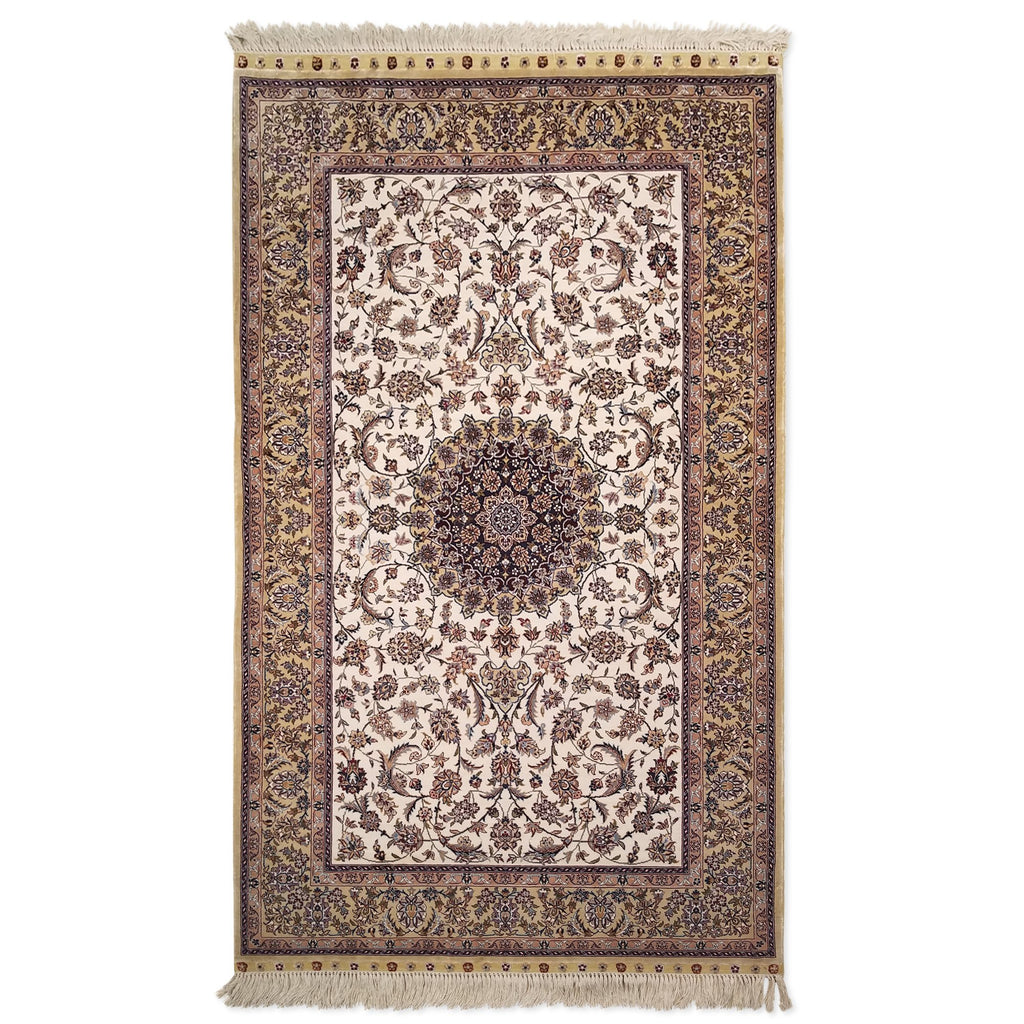"3'0"" x 5'0""   Silk Chinese Hereke Rug Top View"