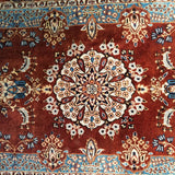 "1'6"" x 3'2""   Silk Chinese Hereke Rug Angle View"