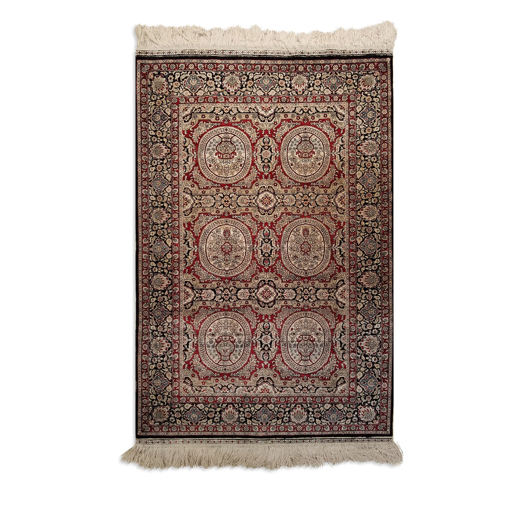 "2'8"" x 4'1""   Silk Chinese Hereke Rug Top View"