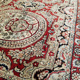 "2'8"" x 4'1""   Silk Chinese Hereke Rug Angle View"