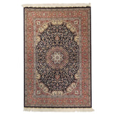 "4'0"" x 6'0""   Silk Chinese Hereke Rug Top View"