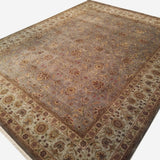 "8'9"" x 11'4""   Silk Indian Jaipur Rug Angle View"