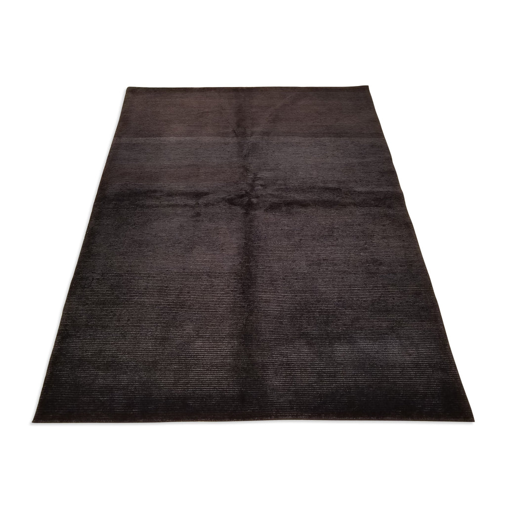 "5'0"" x 6'6""   Indian Gabbeh Rug Angle View"