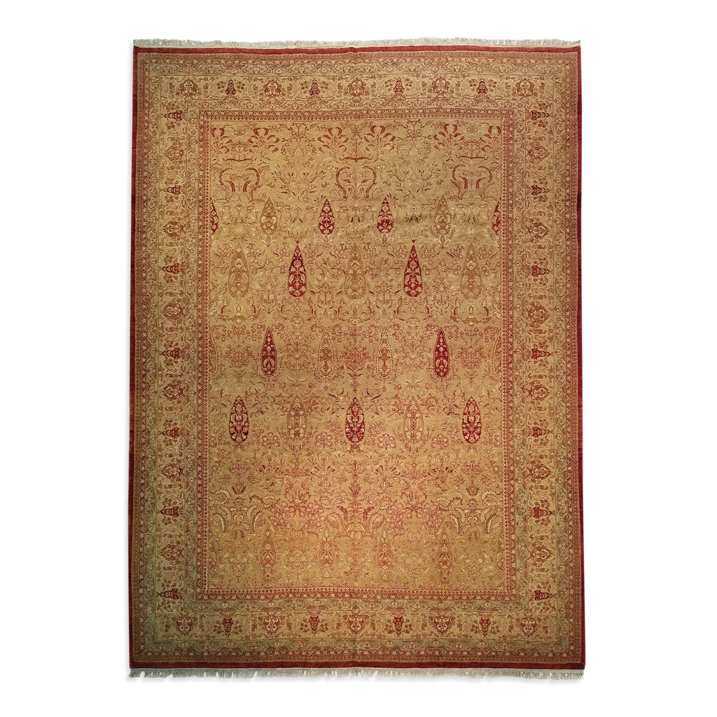 "9'3"" x 11'9""   Indian Serapi Rug Top View"