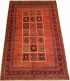 "5'8"" x 8'5""   Persian Kashkuli Rug Top View"