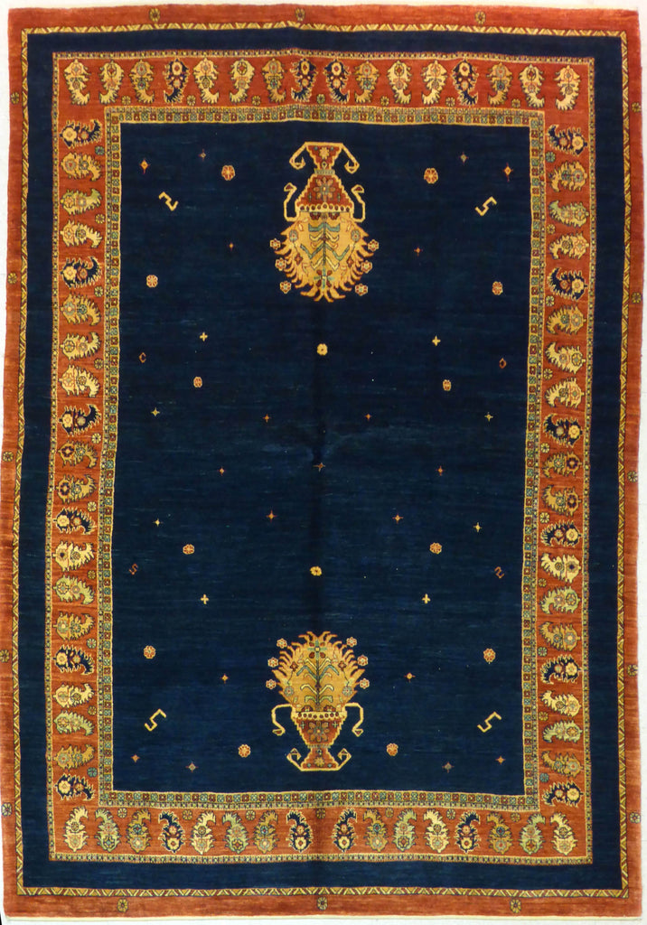 "5'9"" x 8'3""   Persian Kashkuli Rug Top View"