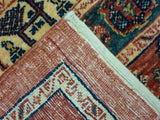 "3'9"" x 4'11""   Persian Kashkuli Rug Back View"