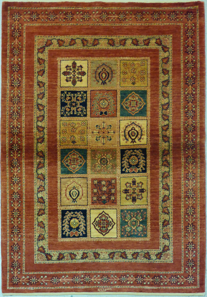 "3'8"" x 5'3""   Persian Kashkuli Rug Top View"