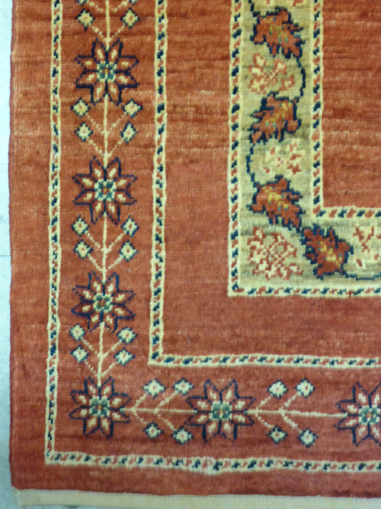 "3'8"" x 5'3""   Persian Kashkuli Rug Back View"