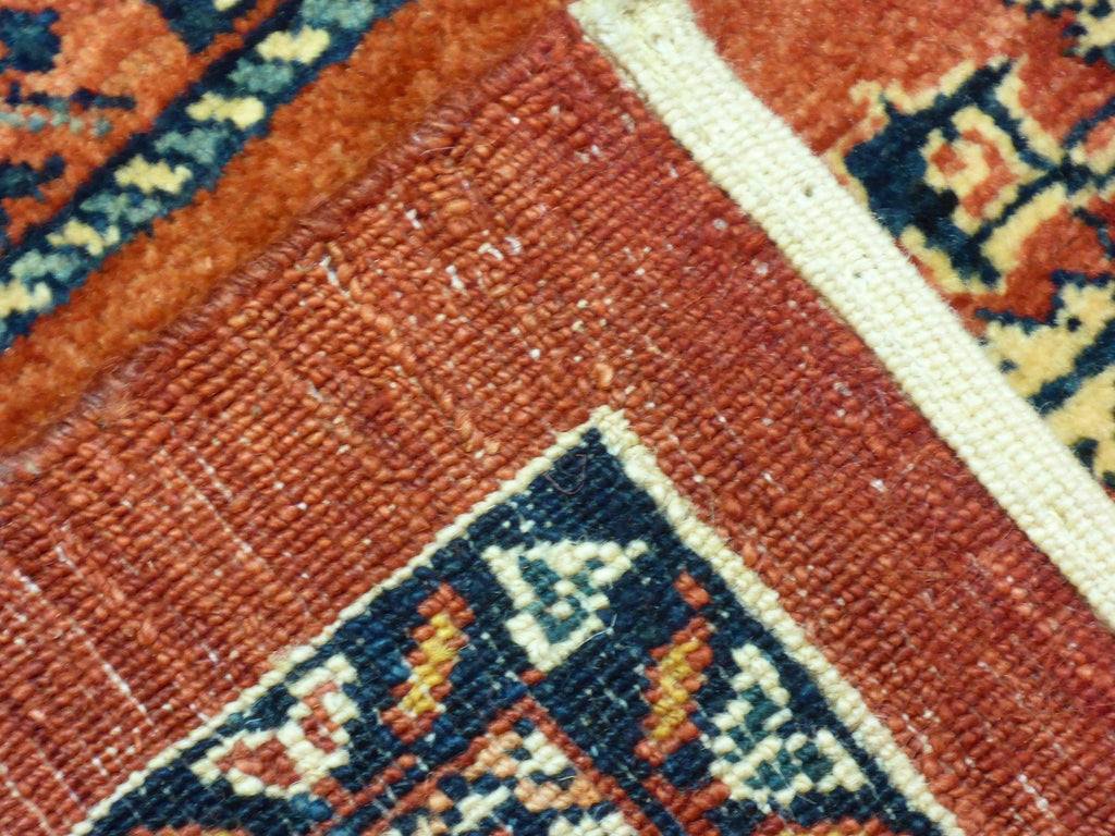 "5'7"" x 7'10""   Persian Kashkuli Rug Back View"
