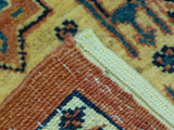 "2'8"" x 6'7""   Persian Kashkuli Runner Rug Back View"