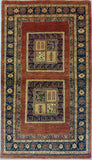 "3'4"" x 5'9""   Persian Kashkuli Rug Top View"