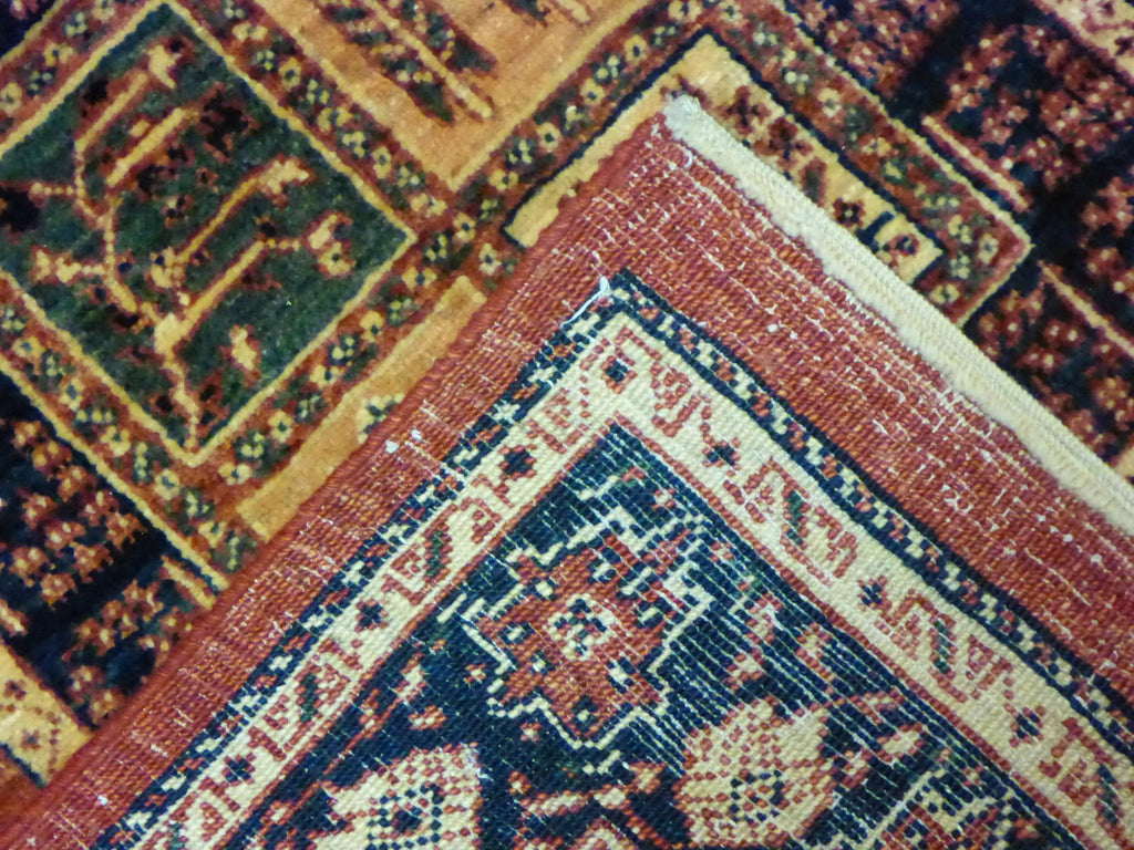 "3'4"" x 5'9""   Persian Kashkuli Rug Back View"