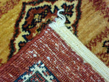 "3'8"" x 4'11""   Persian Kashkuli Rug Back View"