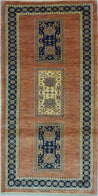 "2'9"" x 5'6""   Persian Kashkuli Rug Top View"