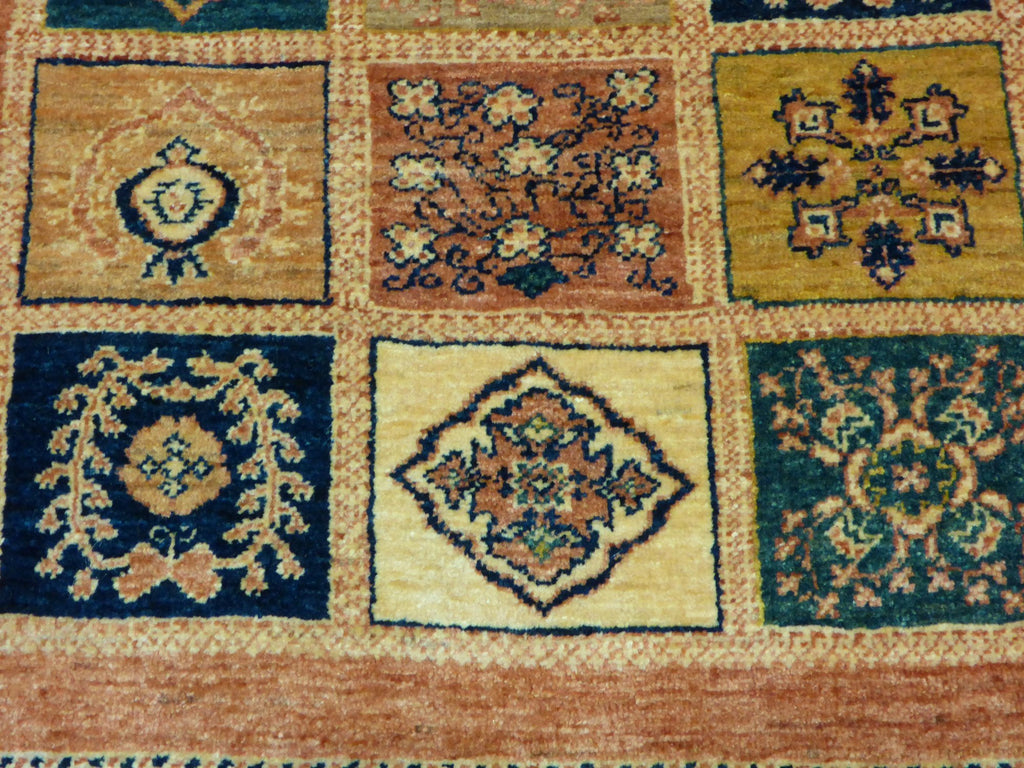 "3'9"" x 5'0""   Persian Kashkuli Rug Back View"